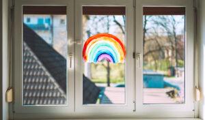 Rainbow Painted on Childcare Center Door